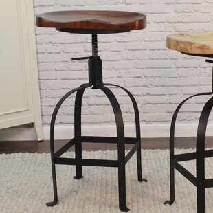 Gracie Oaks Bernardsville Adjustable Height Swivel Bar Stool