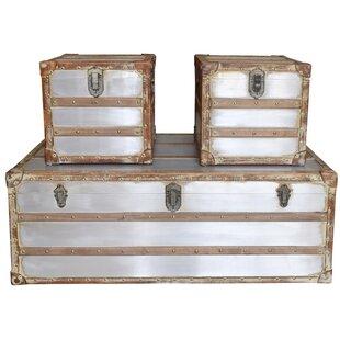 Astoria Grand Nowicki 3 Piece Trunk Coffee Table Set