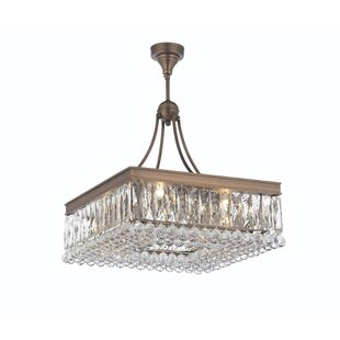 Rosdorf Park Freddie 8-Light Crystal Chandelier