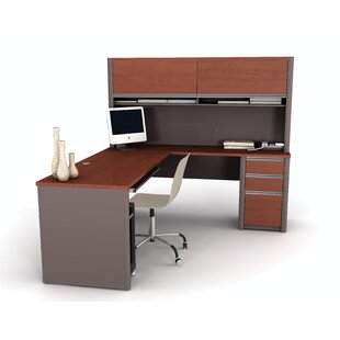 Aurea L-Shaped Desk with Hutch