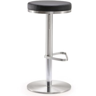 Hatch Steel Adjustable Height Swivel Bar Stool by Orren Ellis