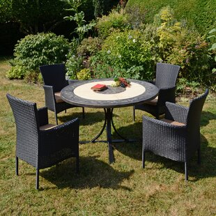 Lizeth 4 Seater Dining Set With Cushion Image