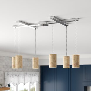 Raynham 6-Light Cluster Pendant by Beachcrest Home
