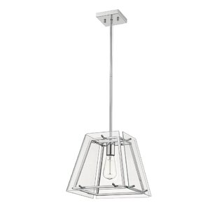 Evan 1-Light Square Pendant by..