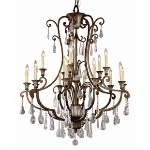 TransGlobe Lighting Candle Style Flair 15-Light Candle Style Chandelier