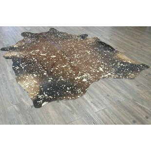 Reviews Shery Hand-Woven Cowhide Brown/Black Area Rug By 17 Stories