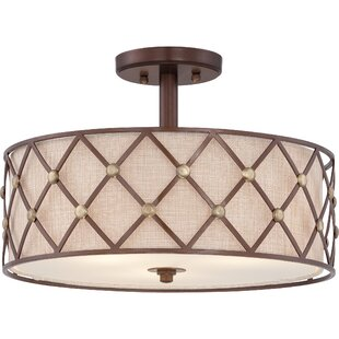 Breakwater Bay Eastlawn 3-Light Semi-Flush Mount