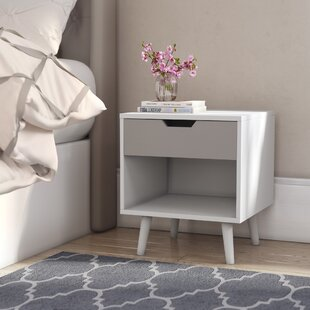 Reanna 1 Drawer Bedside Table By Norden Home