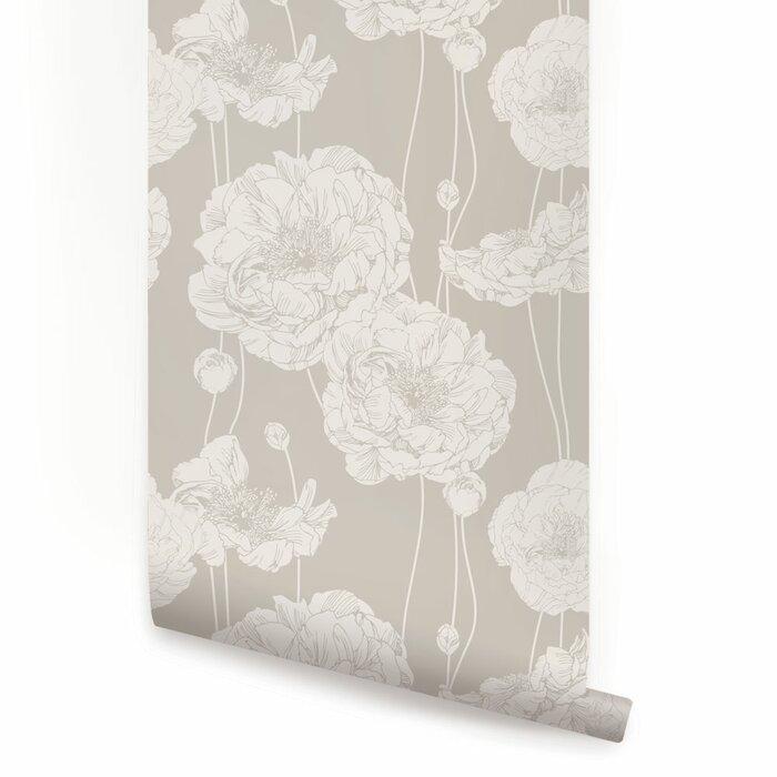 Mullen Peony Peel And Stick Wallpaper Panel
