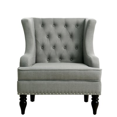 Grey Wingback Accent Chairs You Ll Love In 2020 Wayfair