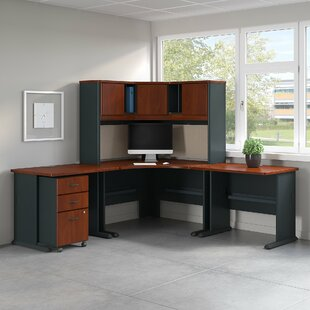 Bush Business Furniture Series A 5 Piece L-Shape Desk Office Suite