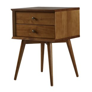 Broadbent Mid-Century 2 Drawer Nightstand