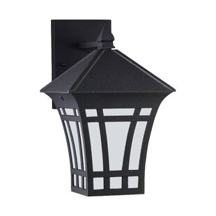 Compare prices Brette 1-Light Outdoor Wall Lantern By Bloomsbury Market