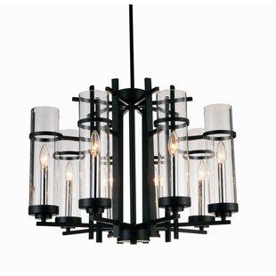 Gracie Oaks Maren 8-Light LED Candle-Style Chandelier