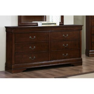 Moshe Wooden 6 Drawer Double Dresser