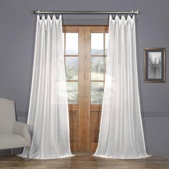 Drum Striped Sheer Rod Pocket Single Curtain Panel Reviews Allmodern