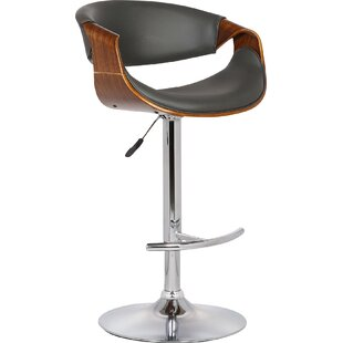 Corrigan Studio Alvin Adjustable Height Swivel Bar Stool