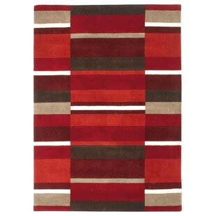 Nellie Hand Woven Wool Red Rug