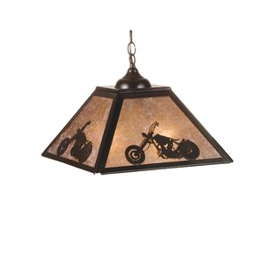 Meyda Tiffany Motorcycle 2-Light Square/R..