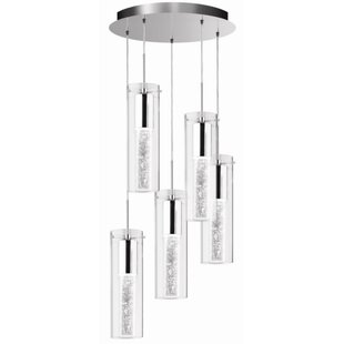 Shamblin 5-Light Cluster Pendant by Orren Ellis