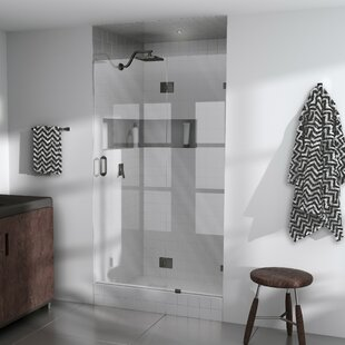 Budget 40 x 78 Hinged Frameless Shower Door By Glass Warehouse