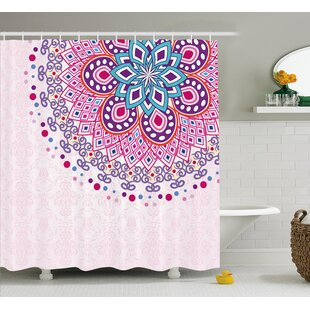 Indian Ornamental Single Shower Curtain