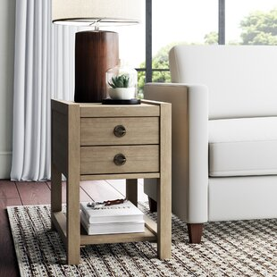 Perspectives Small End Table with Storage by Greyleigh