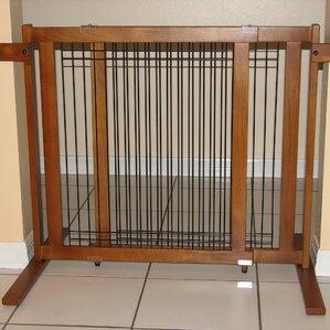 tall wood u0026 wire pet gate - Puppy Gates