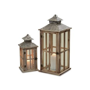 Looking for 2 Piece Metal Lantern Set By Breakwater Bay