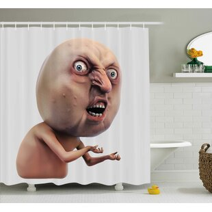 Angry Trolling Face Decor Single Shower Curtain
