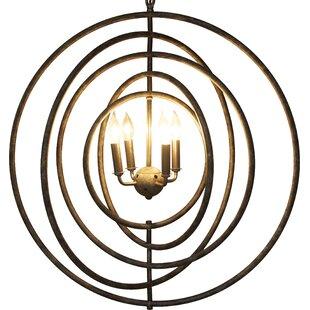 4-Light Chandelier by Noir