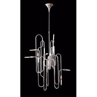 Guttenberg 10-Light Geometric Chandelier by Orren Ellis