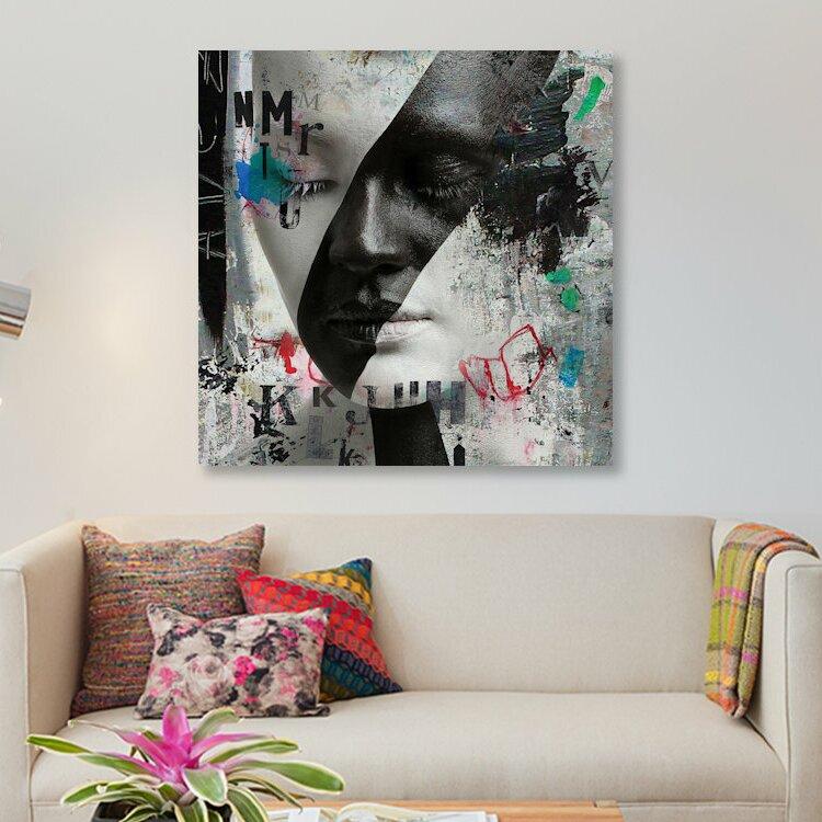 East Urban Home Beauty Graphic Art Print On Canvas Wayfair