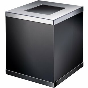 AGM Home Store Square Top Brass Open Waste Basket