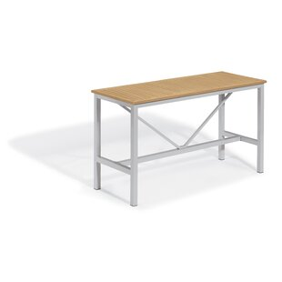 Latitude Run Maclin Aluminum Bar Table