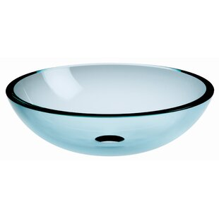 Read Reviews Acquaio Glass Circular Vessel Bathroom Sink By WS Bath Collections