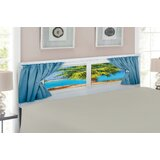 Ambesonne Beach Queen Upholstered Panel Headboard by East Urban Home