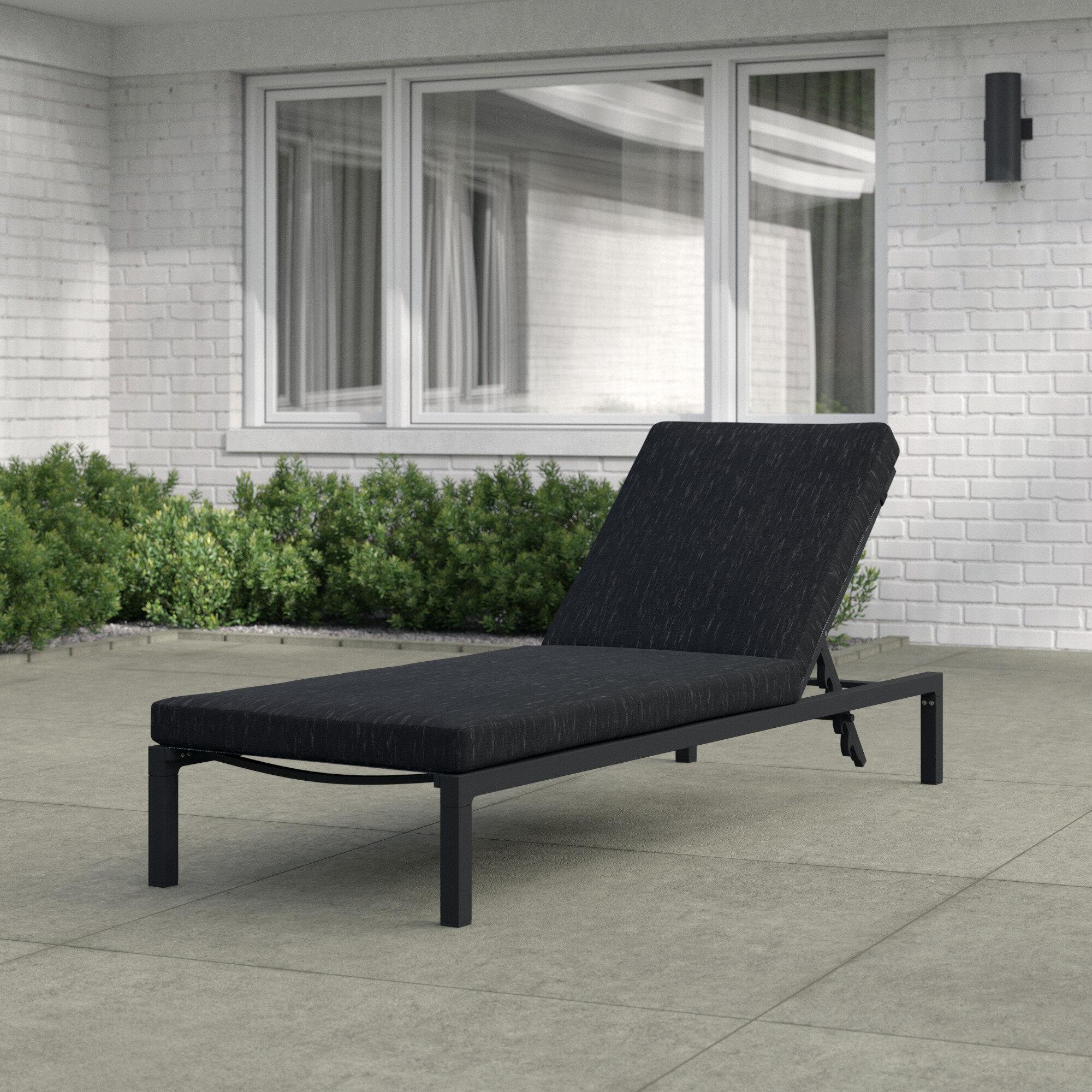 Mercury Row Mirando Reclining Chaise Lounge With Cushion Reviews Wayfair