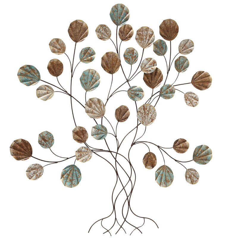 Fleur De Lis Living Tree Of Life Wall Art With Rounded Leaves Wall Décor Wayfair