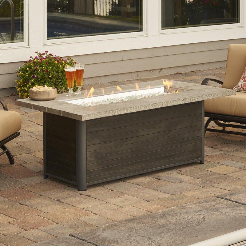 The Outdoor GreatRoom Company Cedar Ridge Gas Fire Pit Table ...