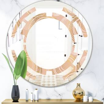 Laurel Foundry Modern Farmhouse Meachum European Walnut Wall Mirror Reviews Wayfair