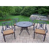 Zonia 5 Piece Dining Set with Cushions