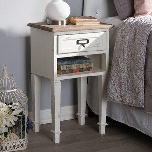 Lark Manor Fleurance Wood 1 Drawer Nightstand
