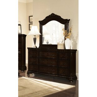 Olcott 9 Drawer Dresser with Mirror