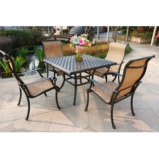Balch Aluminum 5 Piece Dining Set by Canora Grey