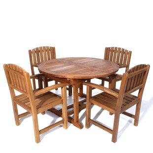 Longshore Tides Humphrey 5 Piece Teak Dining Set