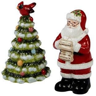 Holiday Wishes 3D Salt & Pepper Shaker Set