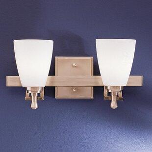 Compare prices Herzig 2-Light Vanity Light By Ebern Designs
