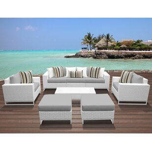 TK Classics Miami 8 Piece Sofa Set with Cushions