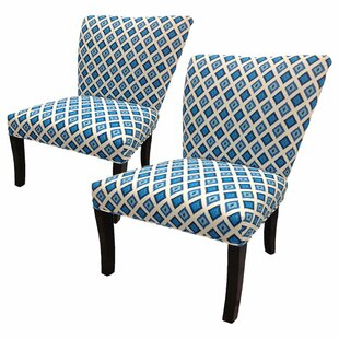 Sole Designs Nile Cotton Wingback Slipper Chair (Set of 2)